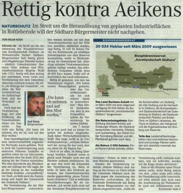 Rettich kontra Aeikens 29.12.2012 BA